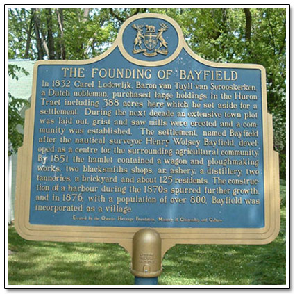 Founding of Bayfield Plaque