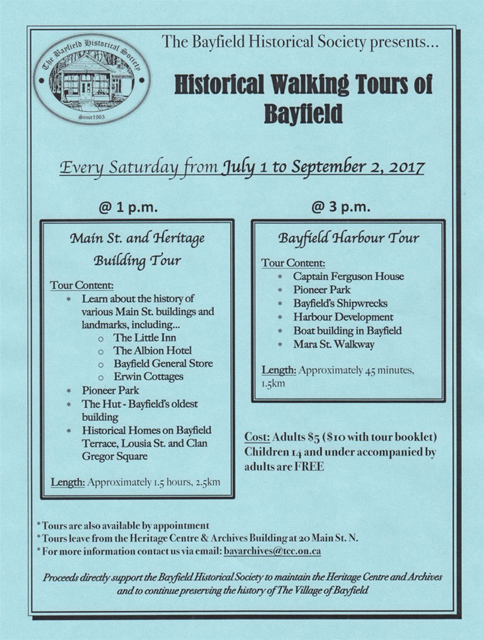 Historical Bayfield Walking Tour